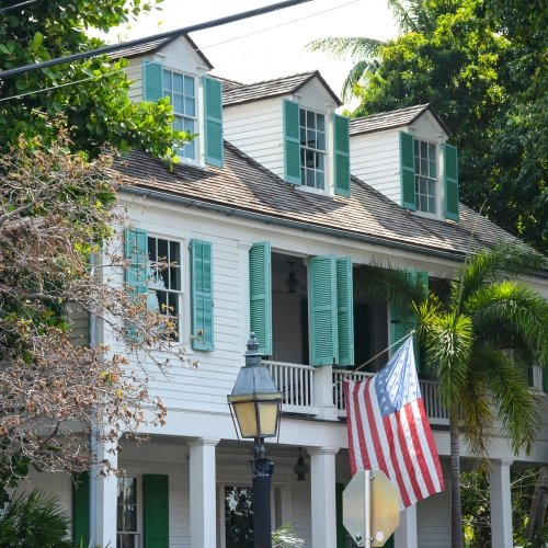The exterior of the Audubon House in Key West.