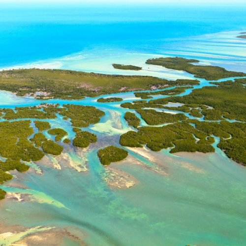 Aerial View of the Florida Keys.
