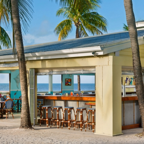 The Beach Bar on the South Beach of Southernmost Beach Resort.