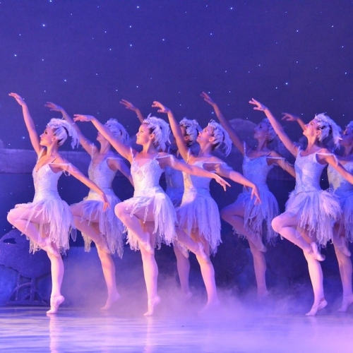 Ballerinas perform in the Nutcracker in Key West.