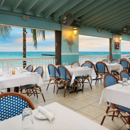 Seaside views from the Southernmost Beach Cafe.