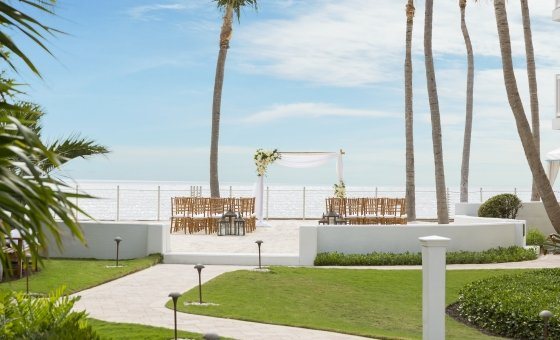 The oceanfront Wedding Pavilion at Southernmost Beach Resort.