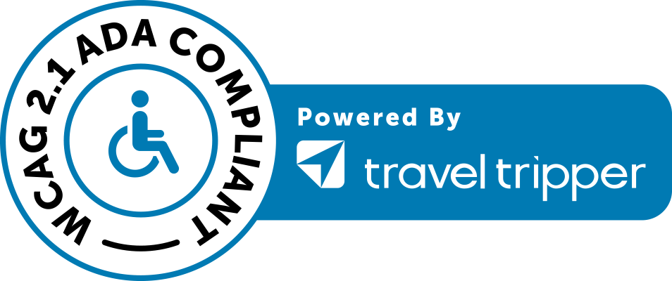 WCAG 2.1 ADA Compliant Powered By travel tripper logo