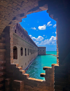 Dry Tortugas National Park view looking out at the ocean