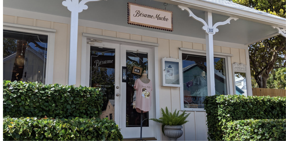 Store front view of Besame Mucho.
