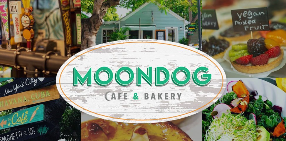 Moondog cafe & bakery image collage and logo