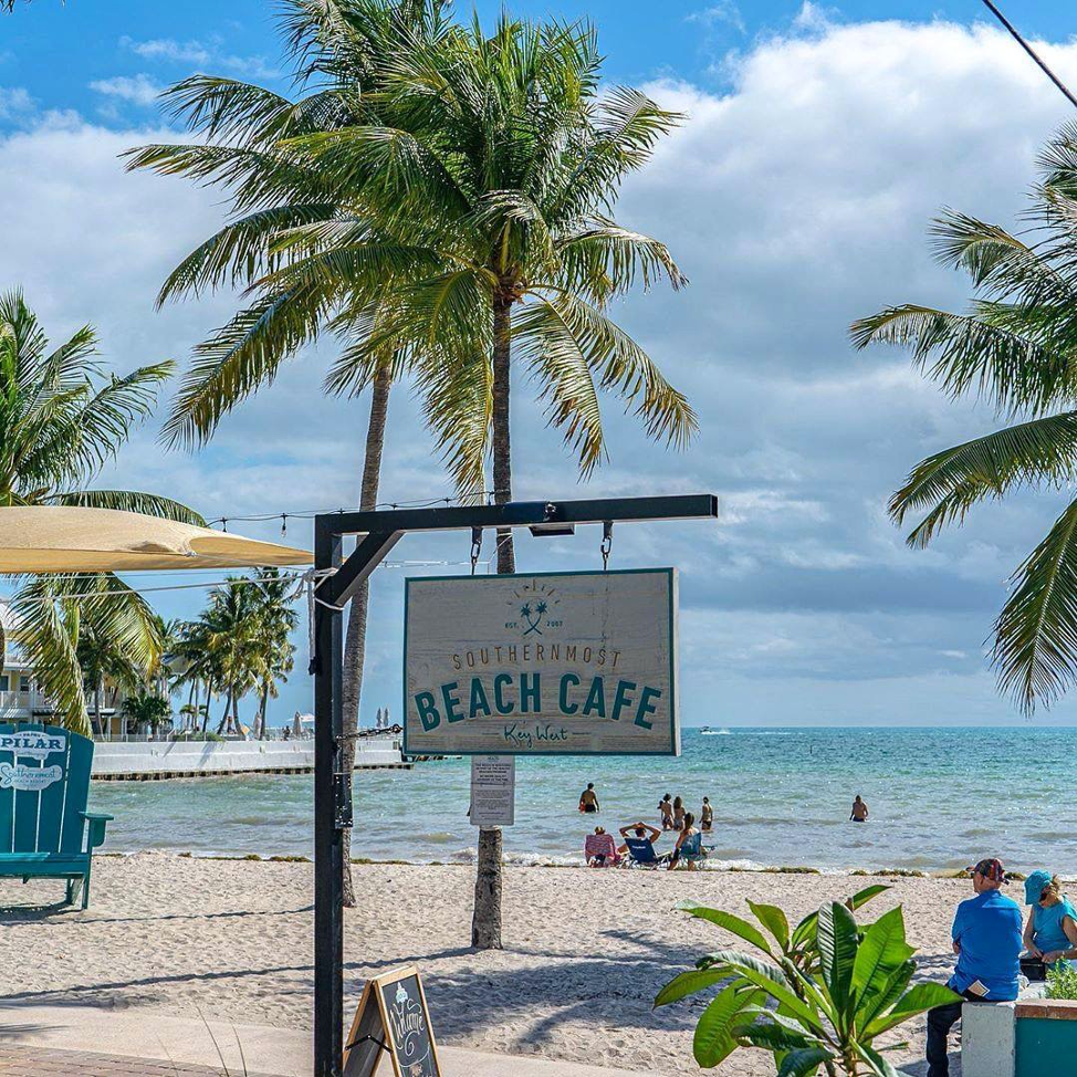 Key West beach cafe with a view of the ocean