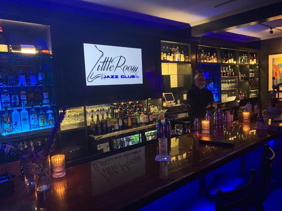 Little room jazz club bar shot