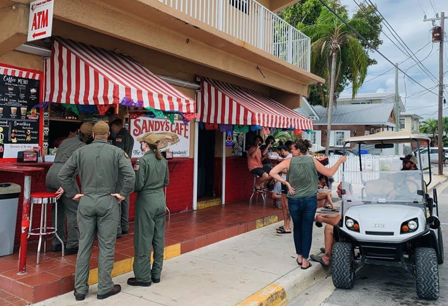 Sandy's Cafe exterior in Key West Florida