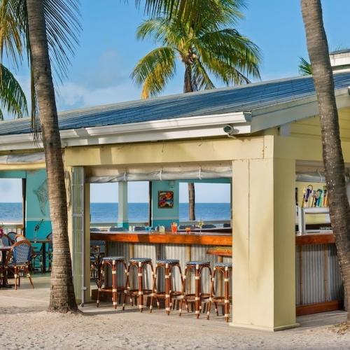 Tropical and open concept beach cabana bar