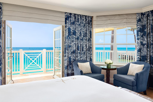 Balcony views in our oceanfront king guest room