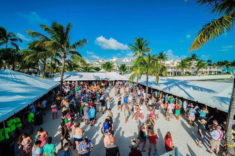 Lots of people enjoying Key West Brewfest