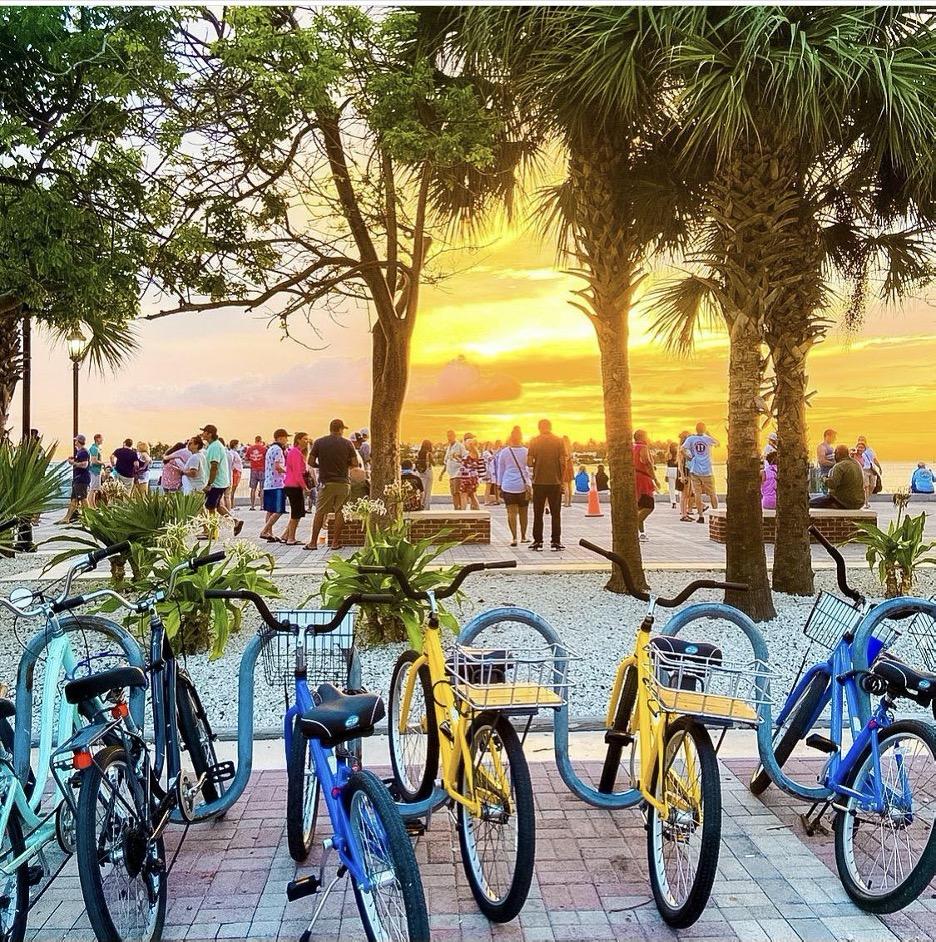 bikes by the beach